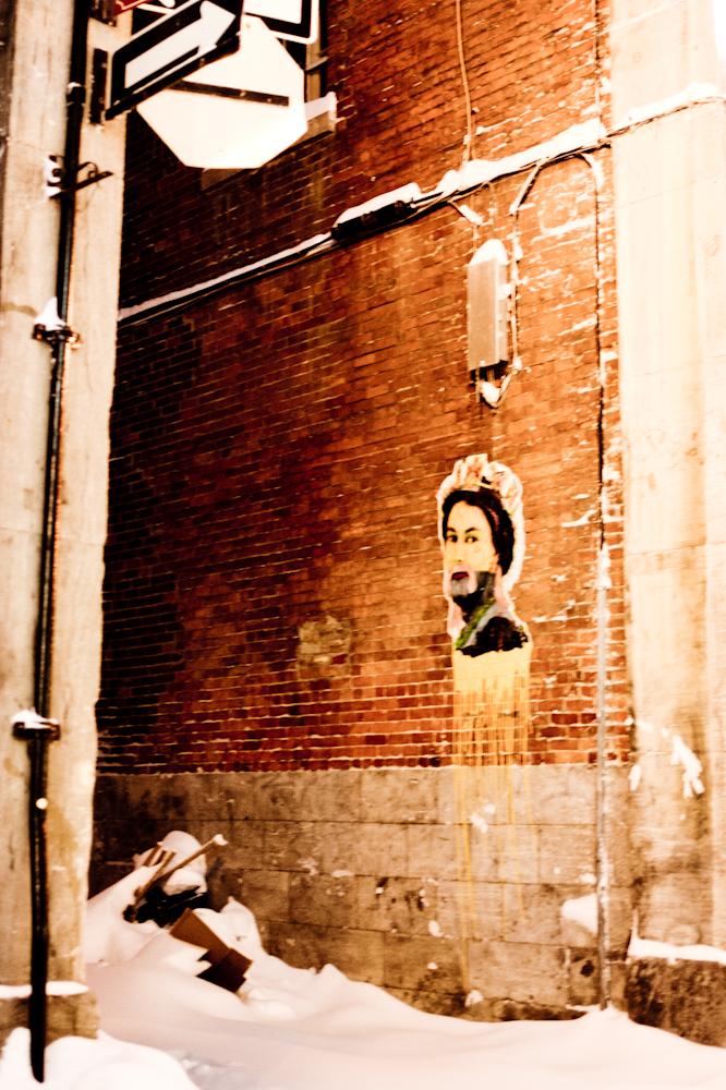 Street art dans le vieux Montréal
