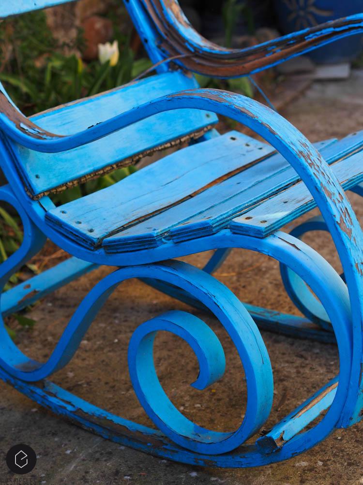 chaise à bascule vintage